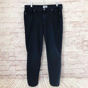 PAIGE | verdugo ankle DARK wash stretchy jeans 32